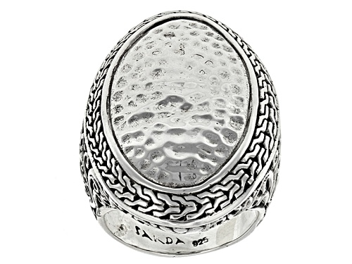 Photo of Artisan Gem Collection Of Bali™ Sterling Silver Hammered Oval Ring - Size 12