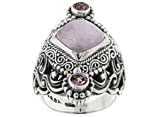 Photo of Artisan Gem Collection Of Bali™Kunzite And .50ctw English Tearose™ Mystic Topaz® Silver Ring - Size 11
