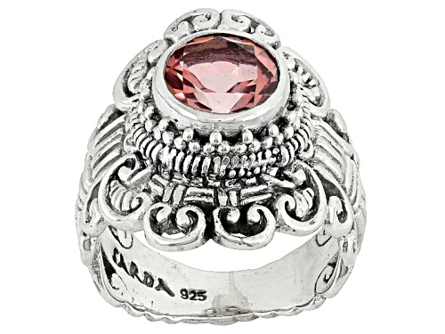Photo of Artisan Gem Collection Of Bali™ 1.50ct Round Always True Rose™ Mystic Quartz® Silver Ring - Size 12