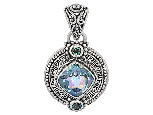 Photo of Artisan Gem Collection Of Bali™ 4.70ctw Endless Song™ And River Ride™ Quartz Silver Pendant