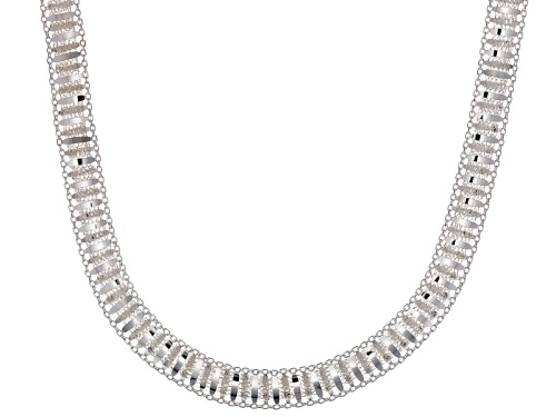 Photo of Sterling Silver Railroad Link 18 Inch Necklace - Size 18