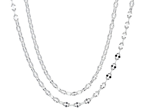 Photo of Silver Plated Sterling Silver Chain Set Of Two