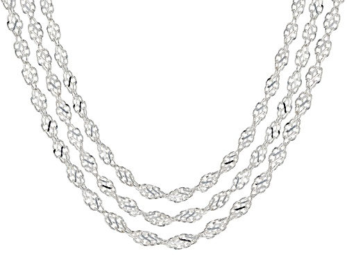 Photo of Sterling Silver Torchon Necklace 18 Inch, 20 Inch, And 24 Inch Set Of Three