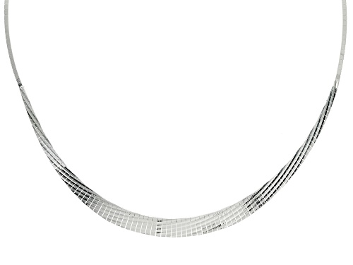 Sterling Silver Diamond Cut 2-8mm Graduated Cleopatra 18 Inch Necklace - Size 18