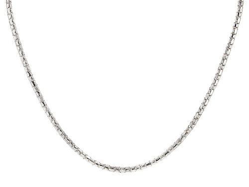 Photo of Sterling Silver Round Diamond Cut Designer Chain Necklace 16.5 Inch - Size 16.5