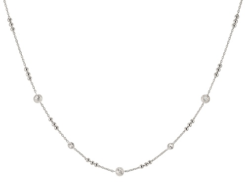 Photo of Bella Luce ® Sterling Silver Cable Link Station Necklace 18 Inch with 1 inch extender - Size 18