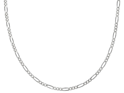 Sterling Silver 1.8mm Diamond Cut Figaro Link Chain Necklace 18 Inch - Size 18