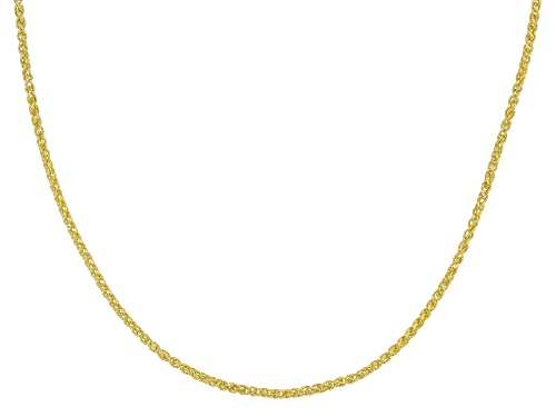 Photo of 18K Yellow Gold Over Sterling Silver 1mm Adjustable Wheat Chain Necklace - Size 24