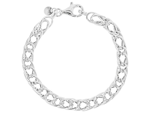 Photo of Sterling Silver Hollow Multi-Linked Curb Bracelet - Size 7.5