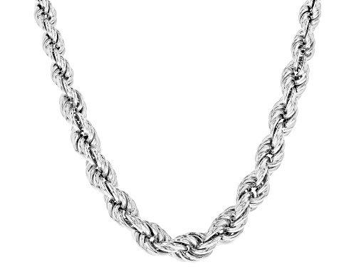 Photo of Sterling Silver Graduated Hollow Rope Chain Necklace 20 Inch - Size 20
