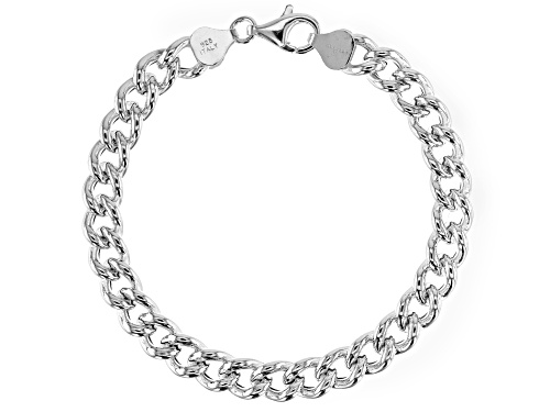 Photo of Sterling Silver Hollow Curb Bracelet 7.5 Inch