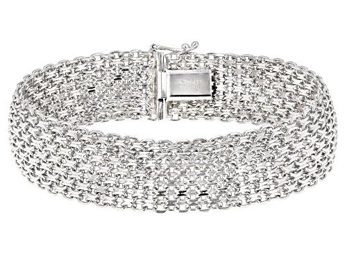 Photo of Sterling Silver Bold Bismark Chain Bracelet - Size 7.5