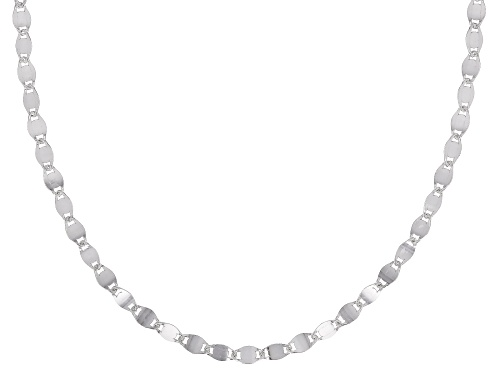 Photo of Sterling Silver 3MM Mirror Link Chain Necklace 18 Inch - Size 18