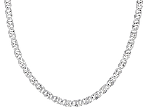 Photo of Sterling Silver 4MM Birdeye Chain Necklace 20 Inch - Size 20