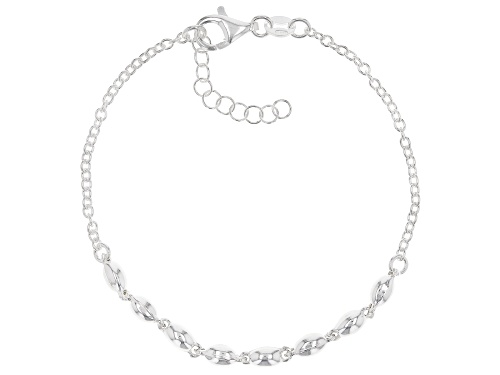 Photo of Sterling Silver Bead Bracelet 7 Inch With 1 Inch Extender - Size 7