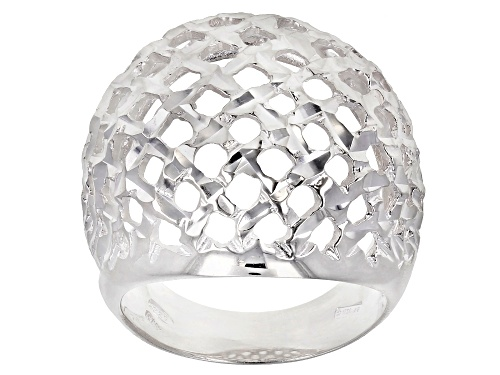 Photo of Sterling Silver Dome Shield Ring - Size 7