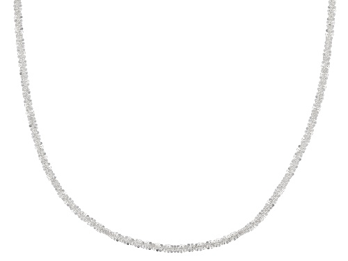 Photo of Sterling Silver Polished Spiral Link Chain Necklace 24 Inch - Size 24
