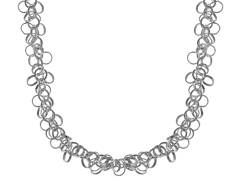 Photo of Sterling Silver Diamond Cut Multi Link Rolo Chain Necklace 20 Inch - Size 20