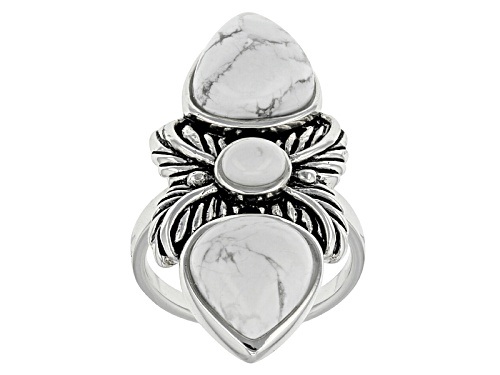 Photo of Southwest Style By Jtv™ White Magnesite Sterling Silver Ring - Size 6