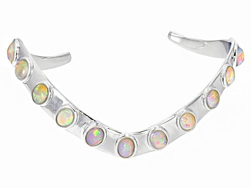 Photo of Southwest Style By Jtv™ 4.86ctw 7x5mm Oval Ethiopian Opal Sterling Silver Cuff Bracelet - Size 8