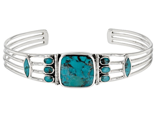 Photo of Southwest Style By Jtv™ Mixed Shapes Turquoise Sterling Silver Cuff Bracelet - Size 8