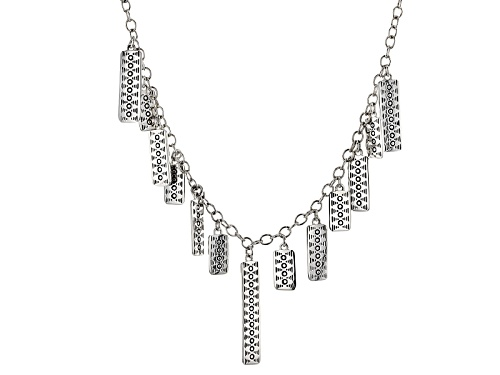 Photo of Southwest Style By Jtv™ Sterling Silver Graduated Tribal Stamped Necklace - Size 18
