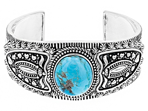 Photo of Southwest Style By Jtv™ 24x20mm Oval Turquoise Sterling Silver Tribal Cuff Bracelet