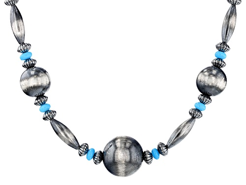 Photo of Southwest Style By Jtv™ Sleeping Beauty Turquoise  Rondelle Bead Sterling Silver Necklace - Size 18