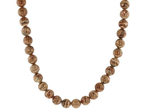 Photo of Southwest Style by JTV™ round caramel rhodochrosite rhodium over sterling silver necklace strand - Size 20