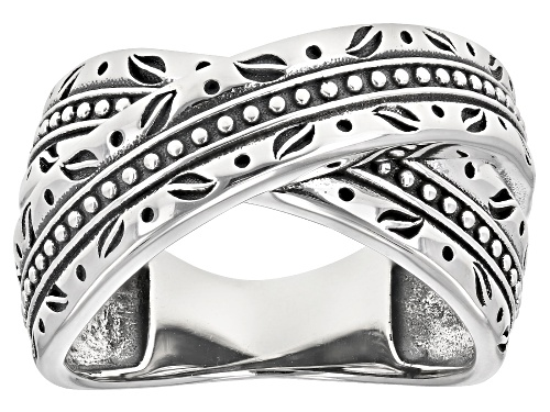 Photo of Southwest Style By JTV™ Rhodium Over Sterling Silver Crossover Band Ring - Size 8