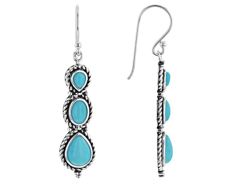 Photo of Southwest Style Of JTV™ Mix Shape Turquoise Rhodium Over Sterling Silver Earrings