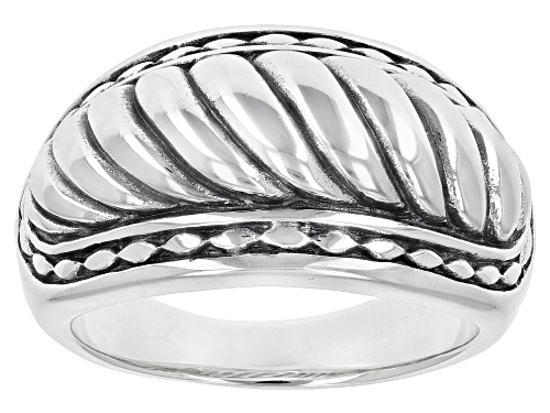 Photo of Southwest Style By JTV™ Rhodium Over Sterling Silver Band Ring - Size 8