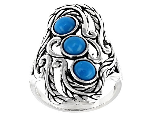 Photo of Southwest Style By JTV™ Sleeping Beauty Turquoise Rhodium Over Silver Ring - Size 7