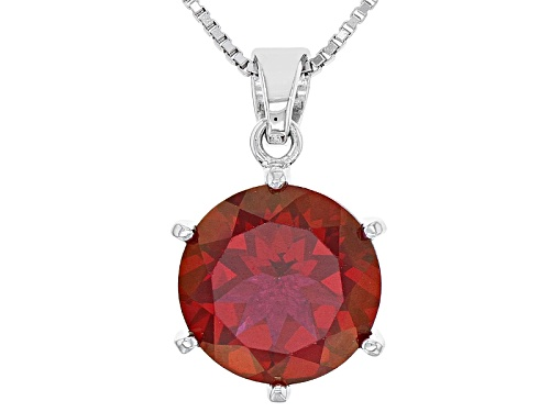Photo of 4.85ct Round Peony™ Mystic Topaz® Sterling Silver Pendant With Chain   Web Only