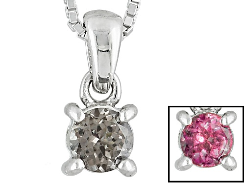 Photo of .37ct Round Multicolor, Color Shift Garnet Sterling Silver Pendant With Chain