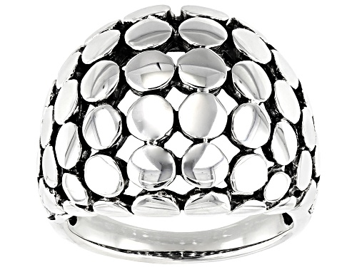 Photo of Southwest Style By JTV™ Mens Rhodium Over Sterling Silver Dome Ring - Size 11