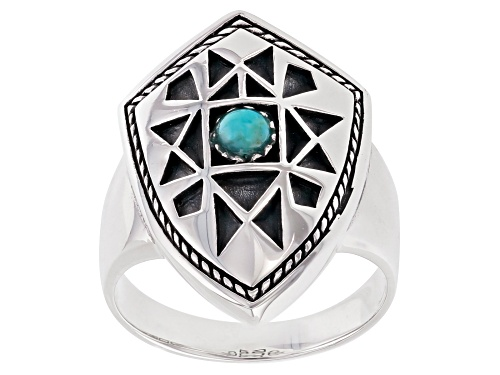 Photo of Southwest Style By JTV™ Mens Turquoise Rhodium Over Silver Ring - Size 12