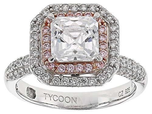 Photo of Tycoon For Bella Luce ® 4.67ctw White & Pink Diamond Simulants Platineve ™ Ring (2.90ctw Dew) - Size 9