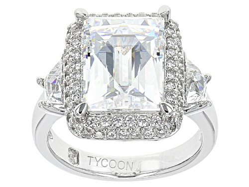 Photo of Tycoon For Bella Luce ® 11.27ctw Baguette And Round Platineve® Ring (6.58ctw Dew) - Size 5