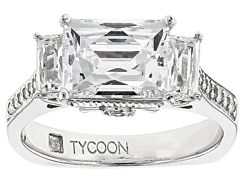 Photo of Tycoon For Bella Luce ® 5.77ctw Baguette And Round Platineve® Ring (3.50ctw Dew) - Size 11