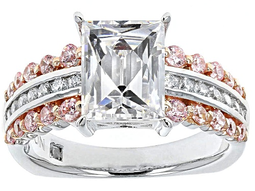 Tycoon For Bella Luce ® 5.42ctw White And Pink Diamond Simulant Platineve Ring - Size 10