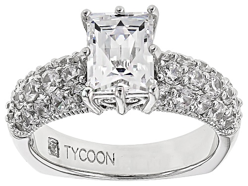 Photo of Tycoon For Bella Luce ® 4.85ctw Baguette & Round Platineve® Ring (2.78ctw Dew) - Size 8