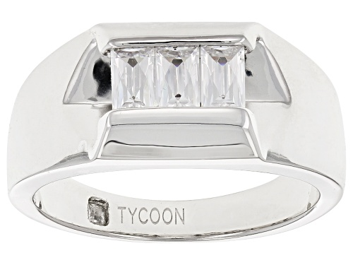 Photo of Tycoon For Bella Luce ® 1.47ctw Baguette Platineve ™ Mens Ring (.87ctw Dew) - Size 11