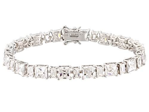 Tycoon For Bella Luce ® 39.03ctw Baguette And Square Platineve ™ Bracelet (24.34ctw Dew) - Size 7.5