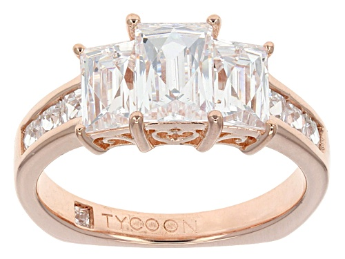 Bella Luce ® 4.12ctw Square & Baguette Eterno ™ Rose Ring Featuring Tycoon Cut ® (2.90ctw Dew) - Size 8
