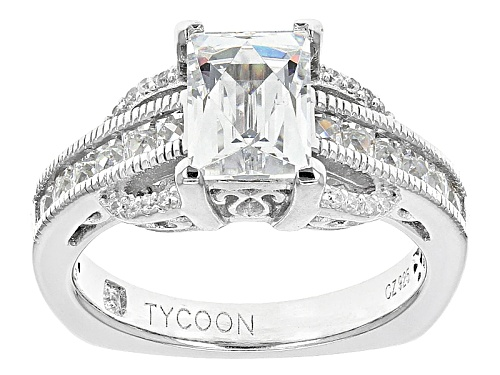 Photo of Tycoon For Bella Luce ® 3.93ctw Square And Round Platineve ™ Ring (2.54ctw Dew) - Size 9