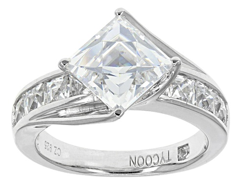 Photo of Tycoon ® For Bella Luce ® 6.25ctw Square Platineve® Ring (4.45ctw Dew) - Size 6