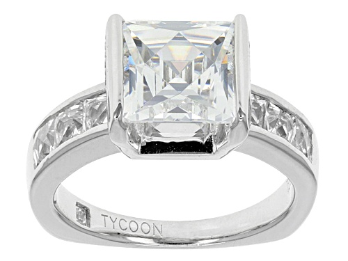 Photo of Tycoon For Bella Luce ® 7.07ctw Square And Round Platineve® Ring (4.90ctw Dew) - Size 8
