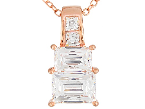 Photo of Tycoon For Bella Luce® 2.70ctw Baguette & Square Platineve® Pendant With Chain (.98ctw Dew)
