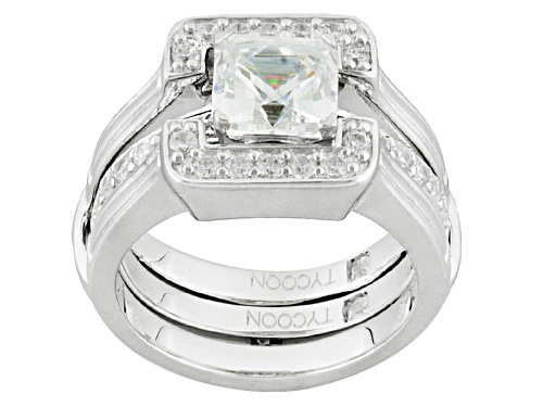 Photo of Tycoon For Bella Luce ® 3.17ctw Platineve ™ Ring With Guard (1.98ctw Dew) - Size 9